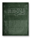 "Chevrolet Motor Head Patent 11"" x 14"" Mono Tone Print (Choose Your Color)"