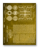"Steenbeck Electron Ray Patent 11"" x 14"" Mono Tone Print (Choose Your Color)"