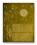 "Thorp Ozone Generation Patent 11"" x 14"" Mono Tone Print (Choose Your Color)"