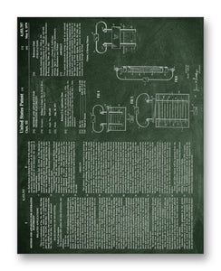"Clark Electric Generation Patent 11"" x 14"" Mono Tone Print (Choose Your Color)"