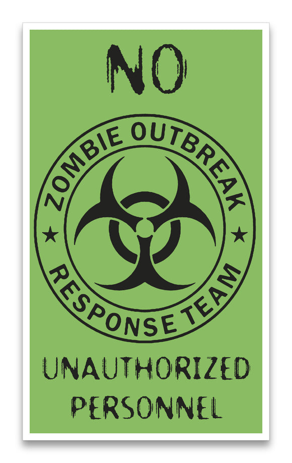 "Zombie Outbreak Response Team 13""x22"" Vintage Style Showprint Poster - Concert Bill - Home Nostalgia Decor Wall Art Print"