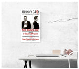 "Johnny Cash Mug Shot Prison 13""x22"" Vintage Style Showprint Poster - Concert Bill - Home Nostalgia Decor Wall Art Print - Neckahneck Artist Edition"