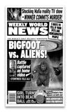 "Weekly World News Bigfoot VS Aliens 13"" x 22"" Showprint Poster"