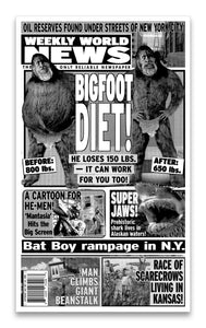"Weekly World News Bigfoot Diet! 13"" x 22"" Showprint Poster"