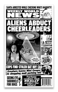 "Weekly World News Aliens Abduct Cheerleaders 13"" x 22"" Showprint Poster"