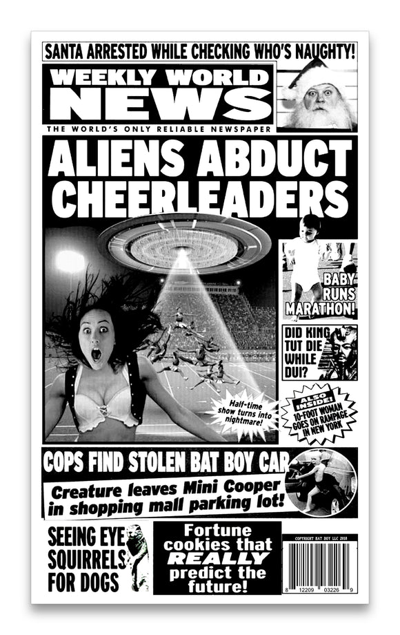 Weekly World News Aliens Abduct Cheerleaders 13