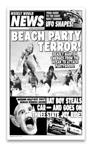 "Weekly World News Beach Party Terror 13"" x 22"" Showprint Poster"