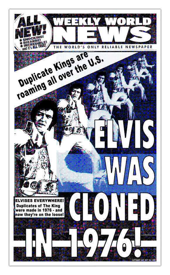 Weekly World News Elvis Cloned 1976 13