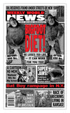"Weekly World News Bigfoot Diet! 13"" x 22"" Showprint Poster (Special Red Edition)"