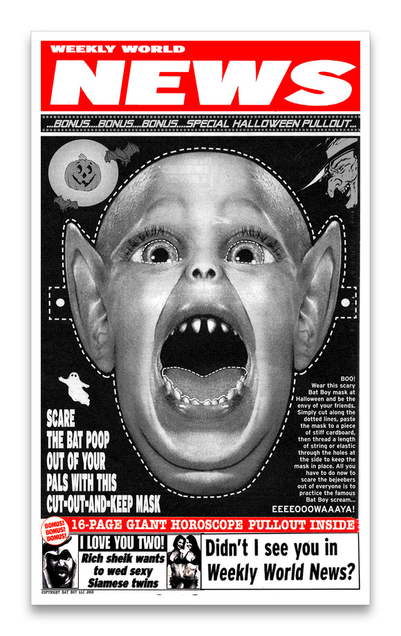 Weekly World News Bat Boy Mask 13