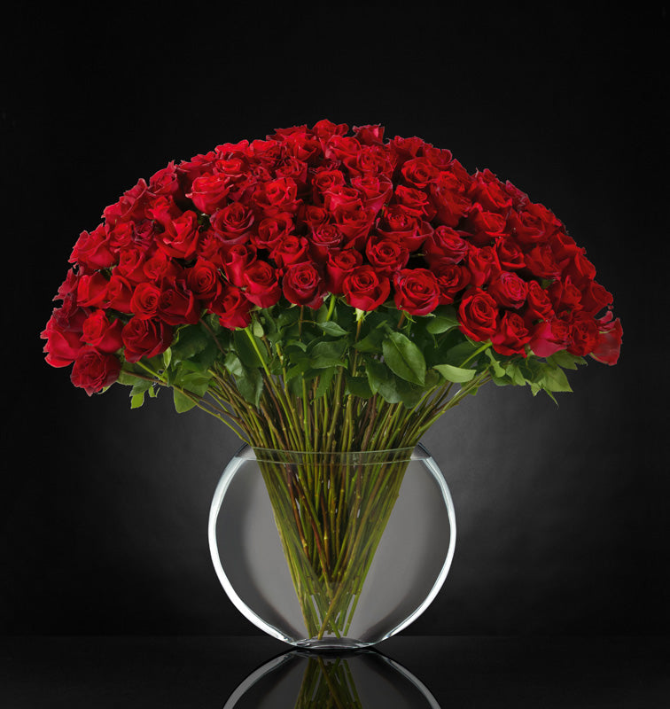 100 Red Roses - Breathless Luxury Bouquet