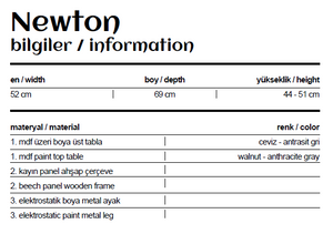 Boardline Collection - Service Table - Newton