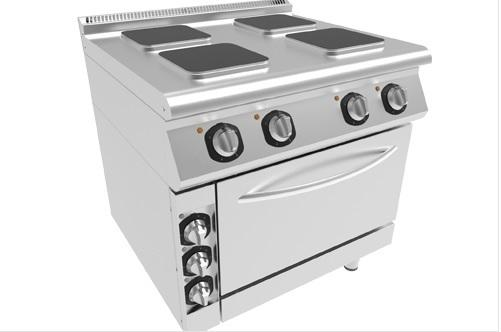 cooker with square plate
