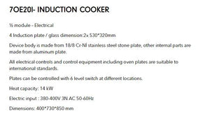 cooker with induction unit