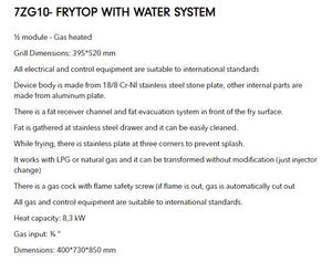 top fry with water system