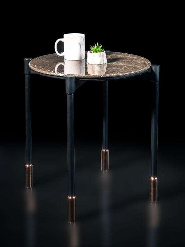 Rockline Collection - Marble Side Table - Nish