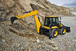 Backhoe loader, construction machine