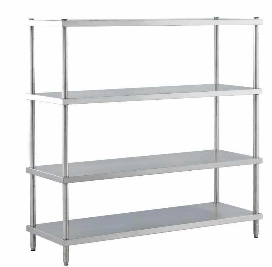 disassembled storage shelving unit