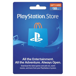 50$ Gift Card From Playstation Store