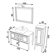 Load image into Gallery viewer, bathroom cabinet with mirror