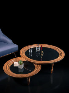 Boardline Collection - Small Center Table - Dark