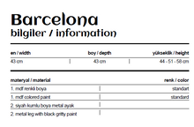 Load image into Gallery viewer, Woodline Collection - Service Table - Barcelona Set