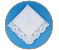 Garden Party White Lace Handkerchief