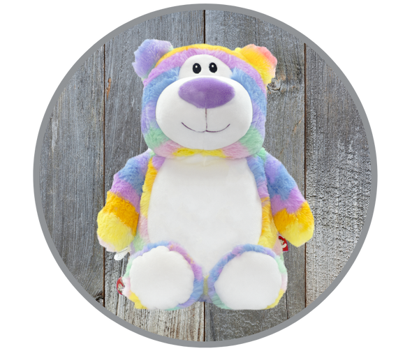 Classic Teddy Bear, Pastel Stripe