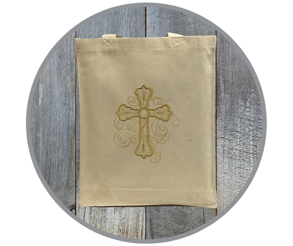 Cross With Flourish Tote Bag