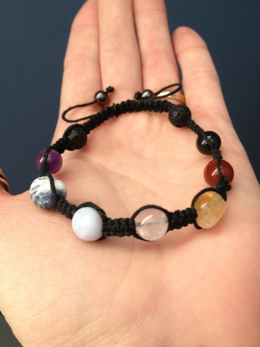 Essential Oil Diffusing Chakra Bracelet