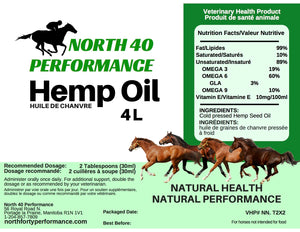 4 Litre Hemp Oil for Pets