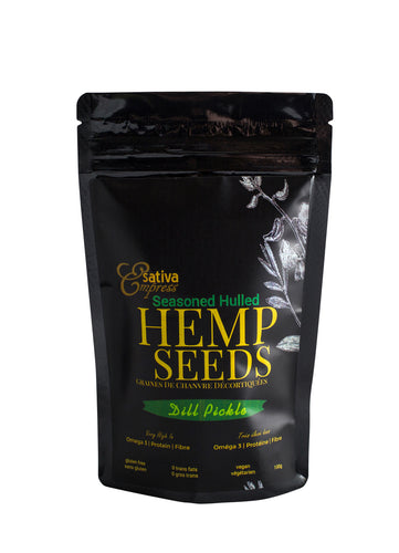 Dill Pickle Seasoned Hemp Seeds