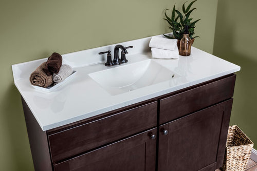 Dartmouth Vanity Cabinet in Dark Sable - Cultured Marble Top
