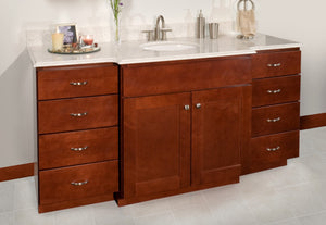 Dartmouth Vanity Cabinet in Crimson - Quartz Top
