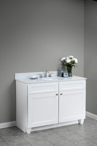 York Vanity Cabinet in White - Quartz Top