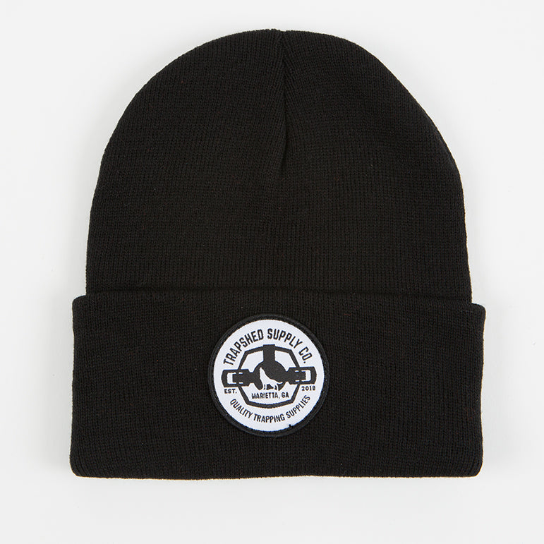 Winter Patch Hat Black - TrapShed Supply Co.
