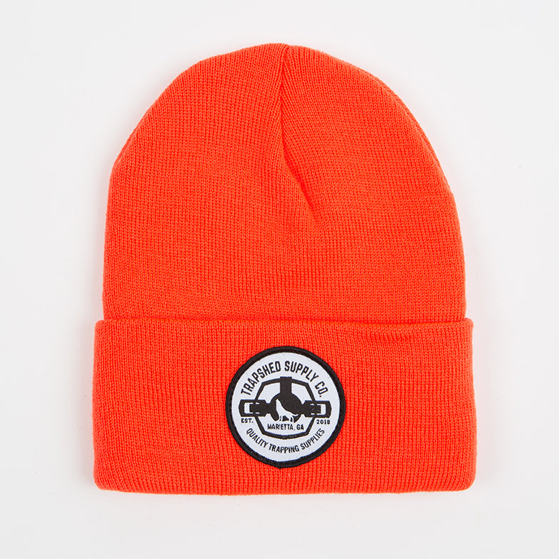 Winter Patch Hat Blaze Orange - TrapShed Supply Co.