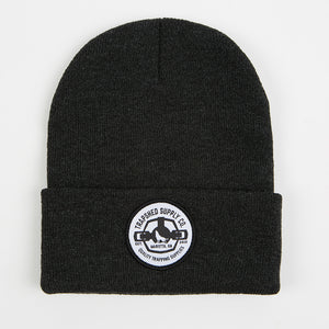 Winter Patch Hat Charcoal - TrapShed Supply Co.