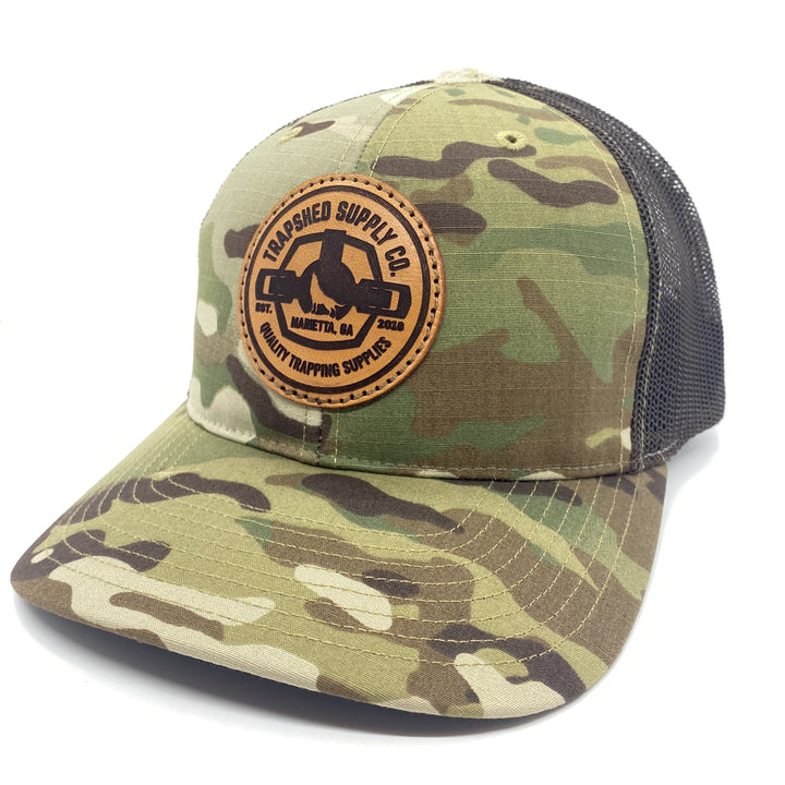 Leather Patch MultiCam® Trucker Hat