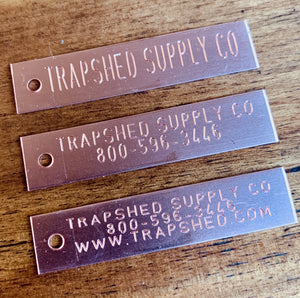 Custom Trap Tags - TrapShed Supply Co.