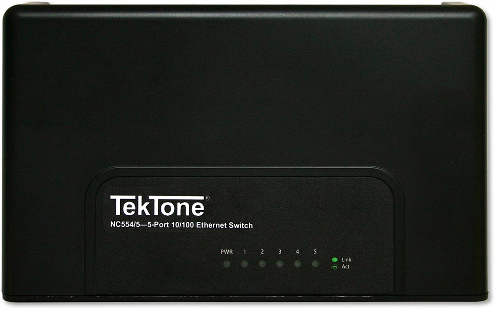 TekTone NC554/5 and NC554/8 Tek-CARE Network Switches