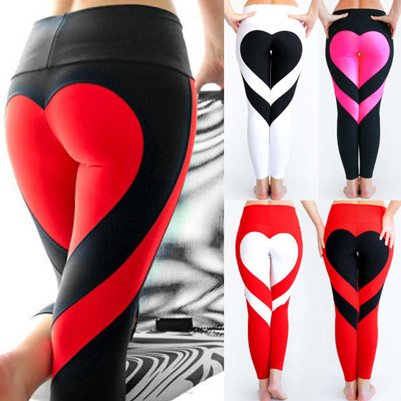 Sexy Woman Heart-shaped Yoga Pants