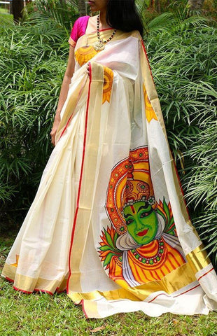 Linen Designer Digital Print Saree MS-11280