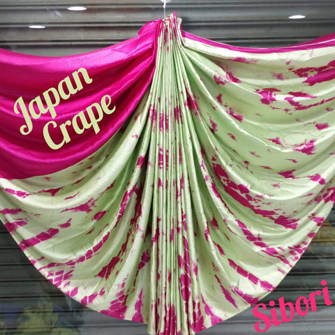 Japan crape silk saree 5011
