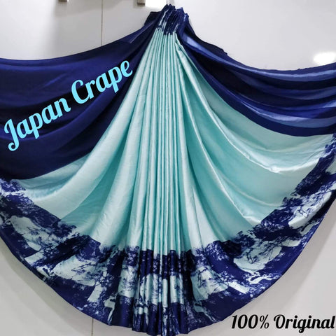 Japan crape silk saree 5013