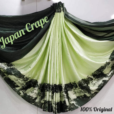 Japan crape silk saree 5014