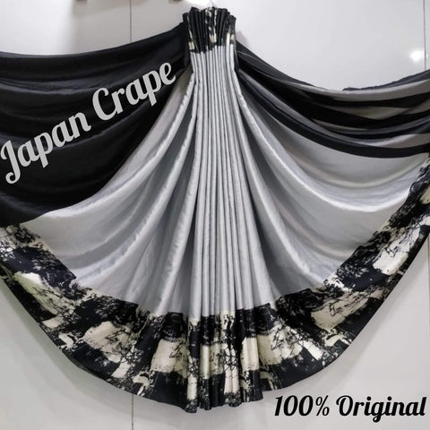 Japan crape silk saree 5015