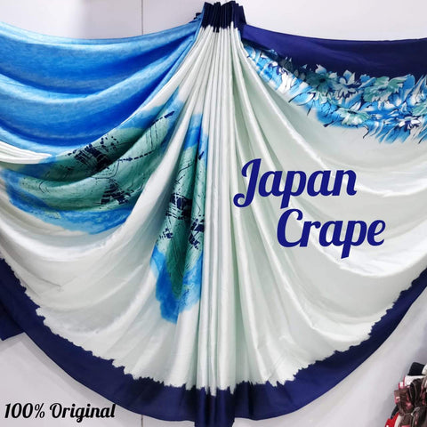 Japan crape silk saree 5019
