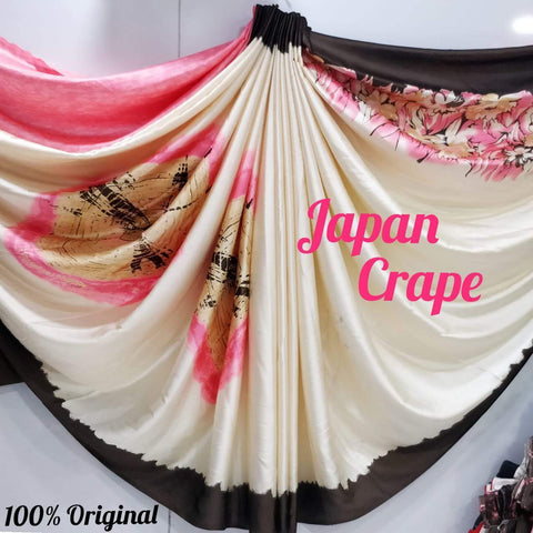 Japan crape silk saree 5020