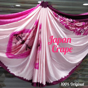 Japan crape silk saree 5021